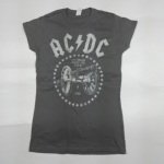 AC/DC 官方原版女款 For Those About To Rock(GS-XS)水洗灰色