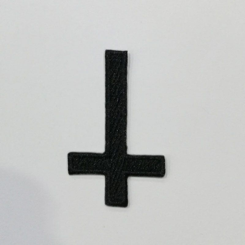 INVERTED CROSS - Logo 摇滚乐文化 (Embroidered Patch) TTP1711