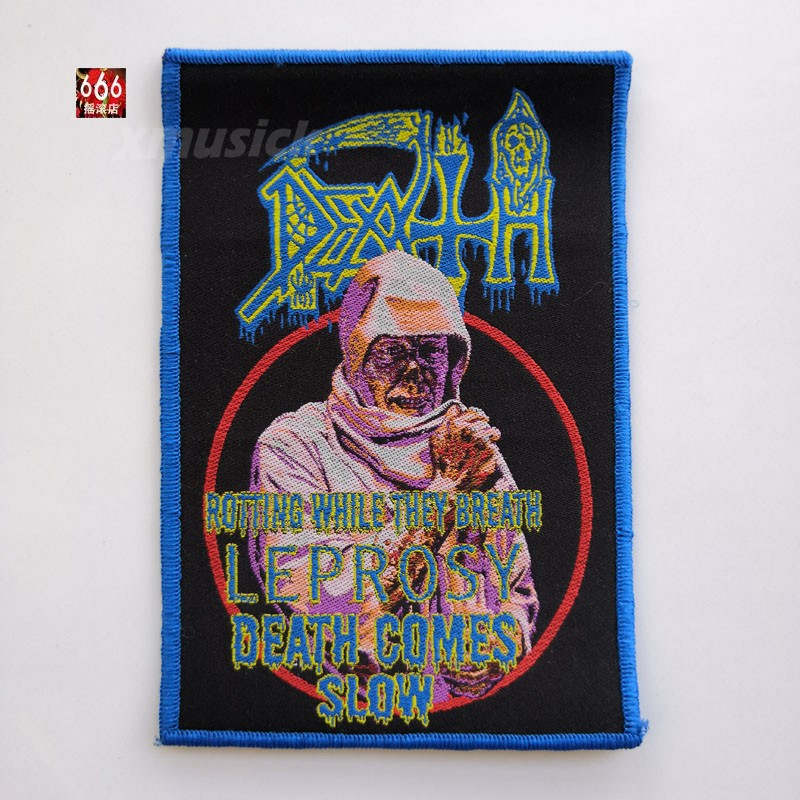 DEATH 官方原版 Leprosy Death Comes Slow (Woven Patch)