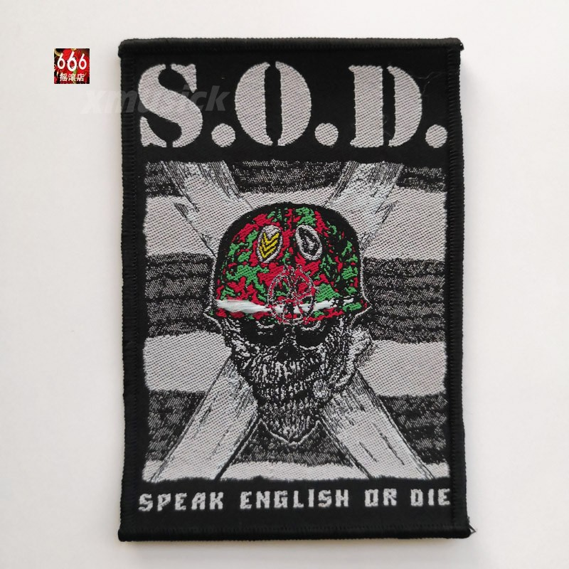 S.O.D. 官方原版 Speak English Or Die 长款 (Woven Patch)