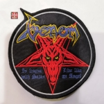 VENOM - In League with Satan 红色 (Embroidered Patch)