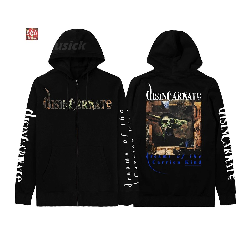 DISINCARNATE 官方原版开身帽衫 Dreams of the Carrion Kind(Hoodie-XL)