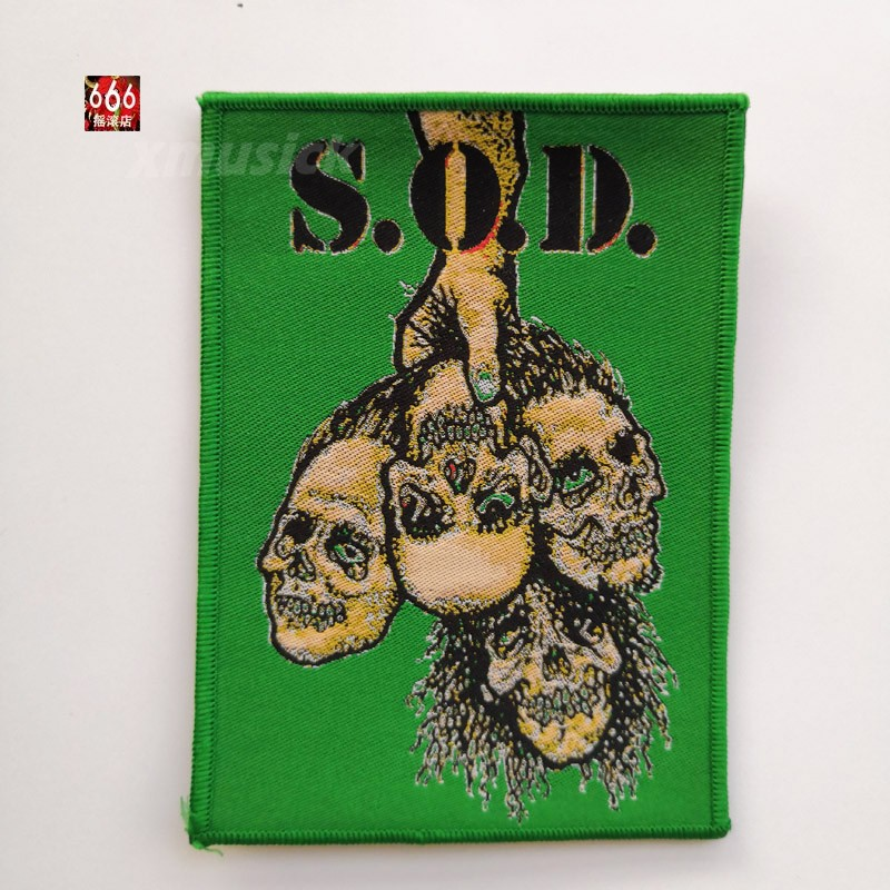 S.O.D. 官方原版 Handle Skulls (Woven Patch)