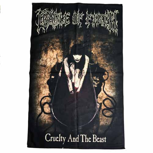 CRADLE OF FILTH 官方原版 Cruelty And The Beast 挂旗 海报