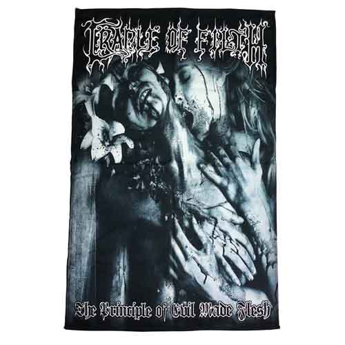 CRADLE OF FILTH 官方原版 Principle of Evil Made Flesh 挂旗 海报