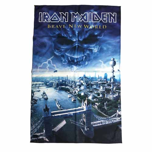 IRON MAIDEN 官方原版 Brave New World 挂旗 海报