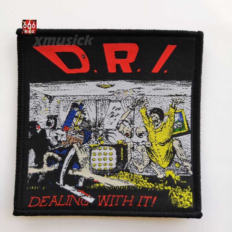 D.R.I. 官方原版 Dealing With It (Woven Patch)