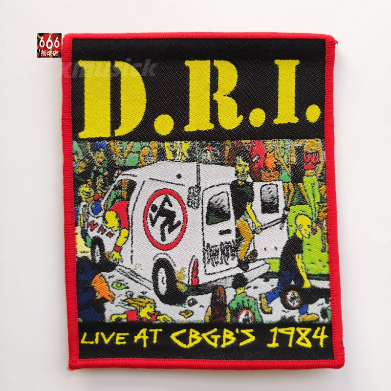 D.R.I. 官方原版 Live At CBGB 1984 (Woven Patch)