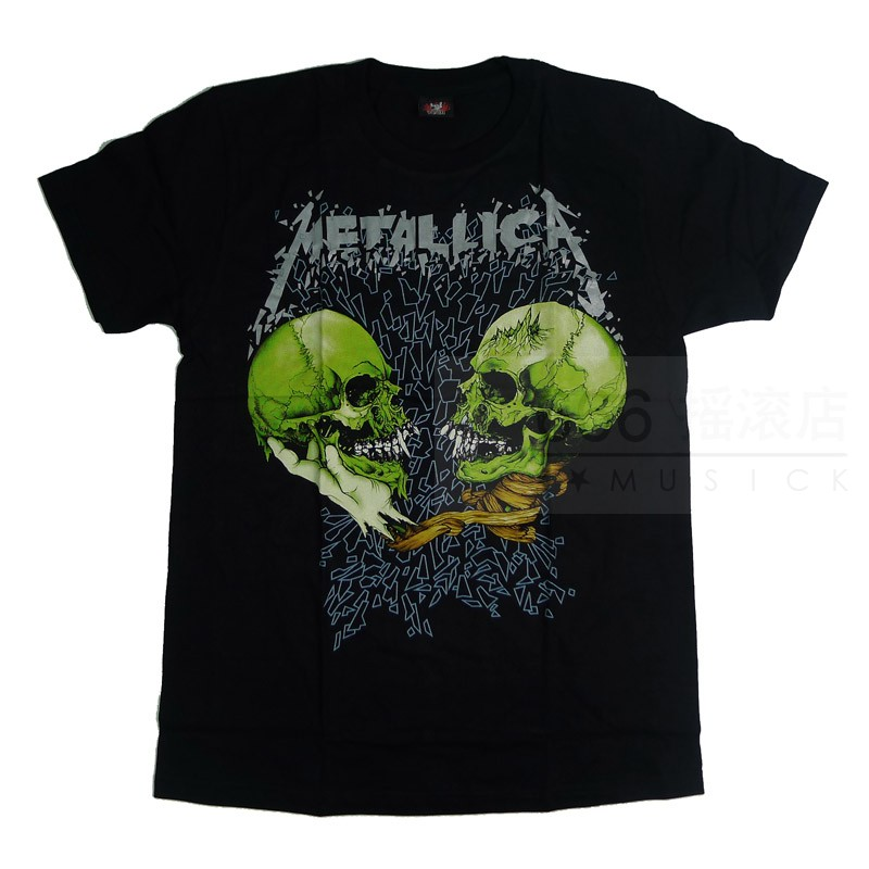 METALLICA - Sad But True 双绿骷髅 (TS-XL) TTH2008