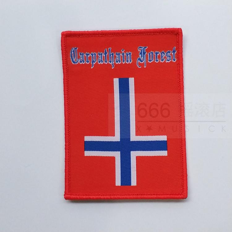 CARPATHIAN FOREST 美国进口原版 Norway Flag (Woven Patch)