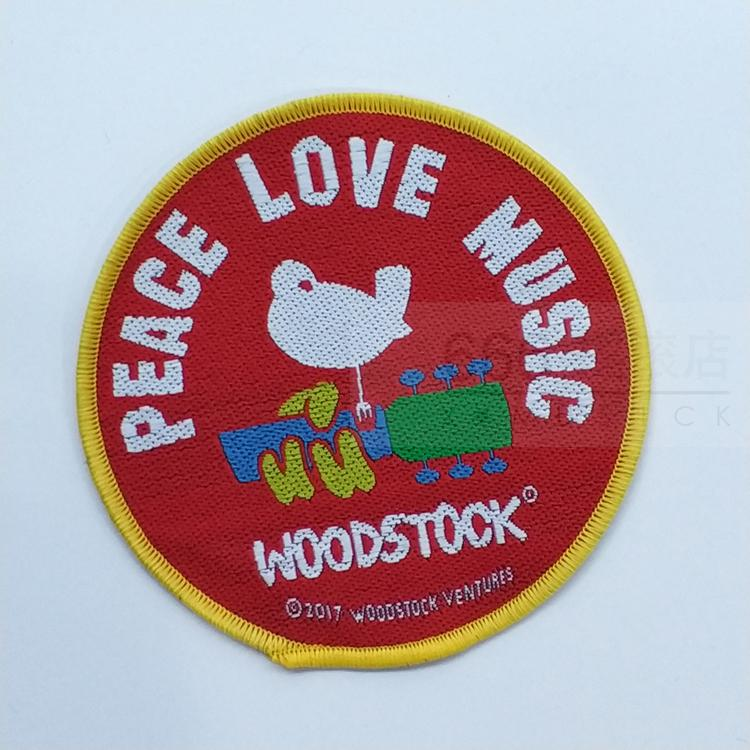WOODSTOCK 官方进口原版 Peace Love (Woven Patch)