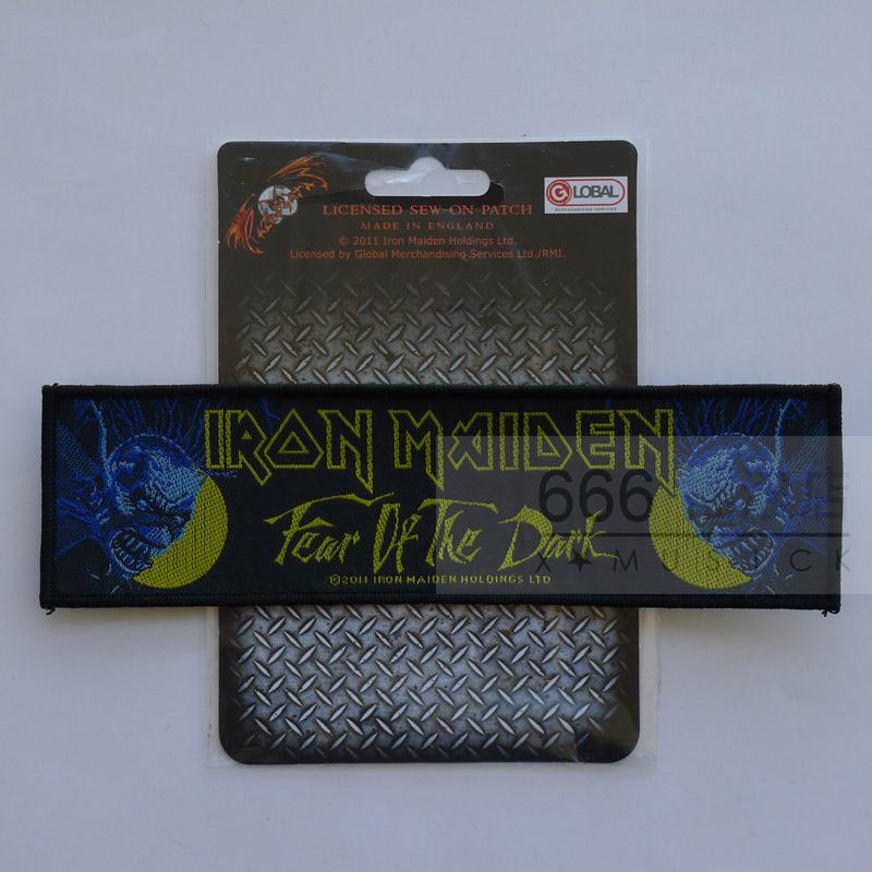 IRON MAIDEN 官方进口原版 Fear Of The Dark 加长 (Woven Patch)