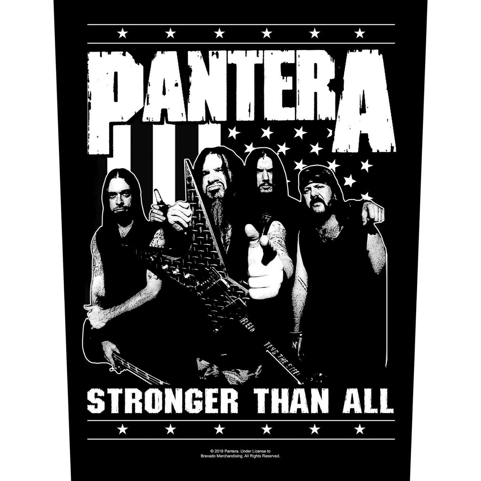 豹 (PANTERA) 官方原版背标 Stronger Than All (Back Patch)