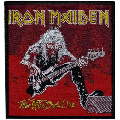 IRON MAIDEN 官方进口原版 Fear Of The Dark Live(Woven Patch)