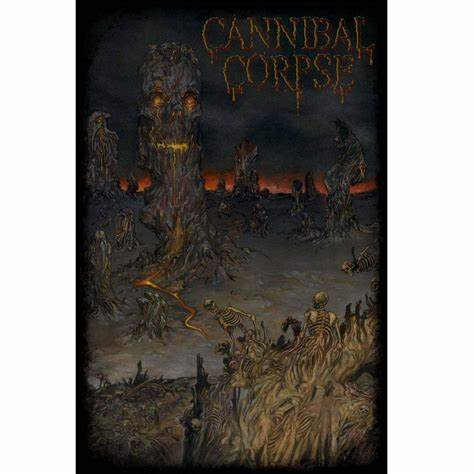 CANNIBAL CORPSE 官方原版 A Skeletal Domain 挂旗海报