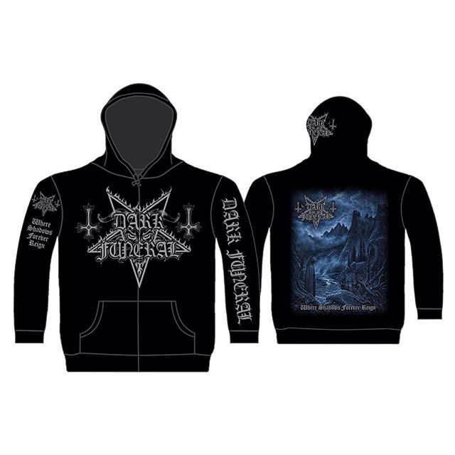 DARK FUNERAL 官方原版开身帽衫 Where Shdows Forever Reign (Hoodie-L)