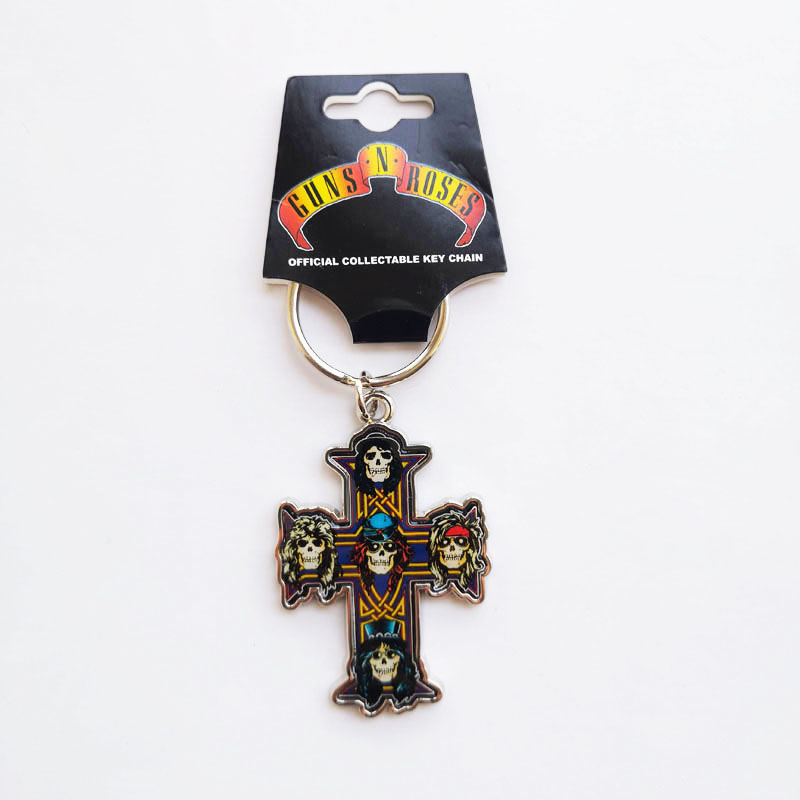 GUNS N ROSES 乐队官方原版 Appetite of Destruction 钥匙扣 (Keyring)