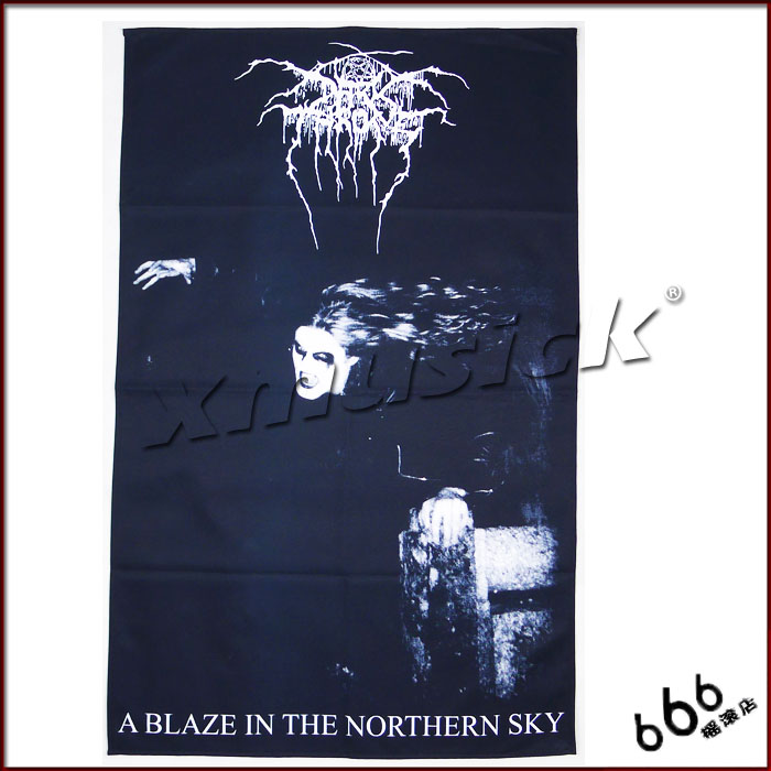 DARKTHRONE 官方原版 A Blaze In The Northern Sky 挂旗 海报(加厚)