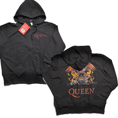 QUEEN 官方原版开身女士帽衫 Crest (Hoodie-XL)