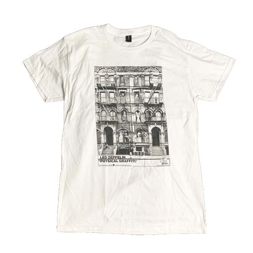 LED ZEPPELIN 官方原版 Physical Graffiti 白色 (TS-XXL)
