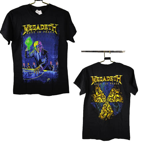 MEGADETH 官方原版 Rust in Peace 周年专辑名在上 (TS-XL)