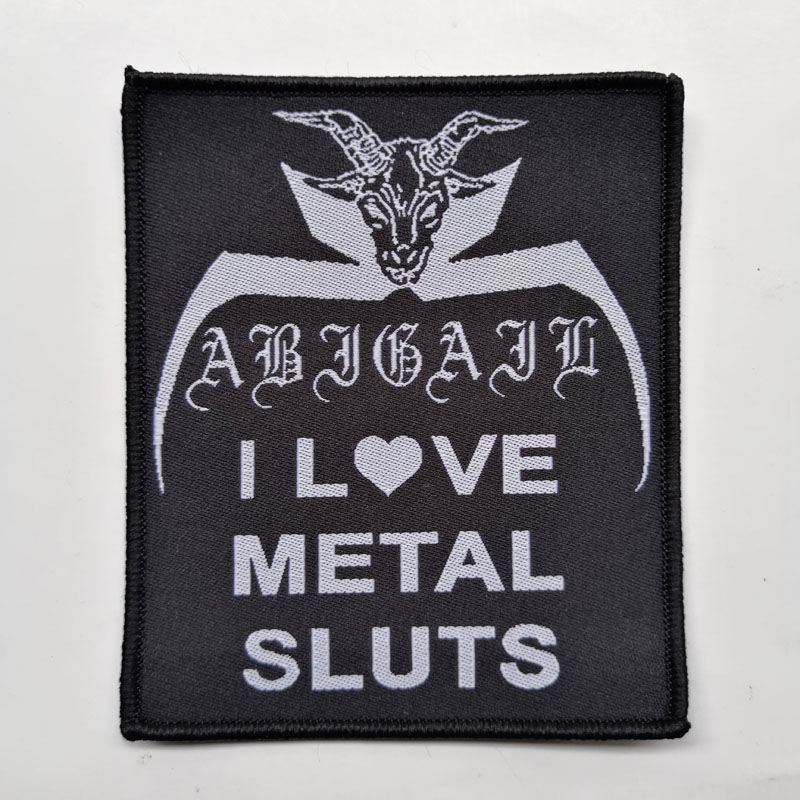 ABIGAIL 官方原版 I Heart Metal Slut (Woven Patch)