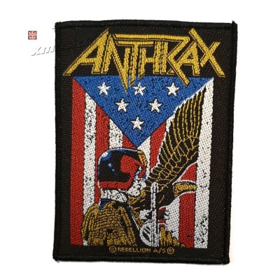 ANTHRAX 官方原版 Eagle Star Flag (Woven Patch)