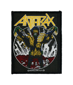 ANTHRAX 官方原版 Judge Death (Woven Patch)
