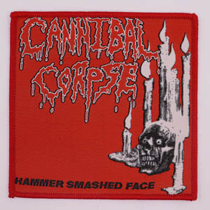 CANNIBAL CORPSE 官方原版 Hammer Smashed Face (Woven Patch)