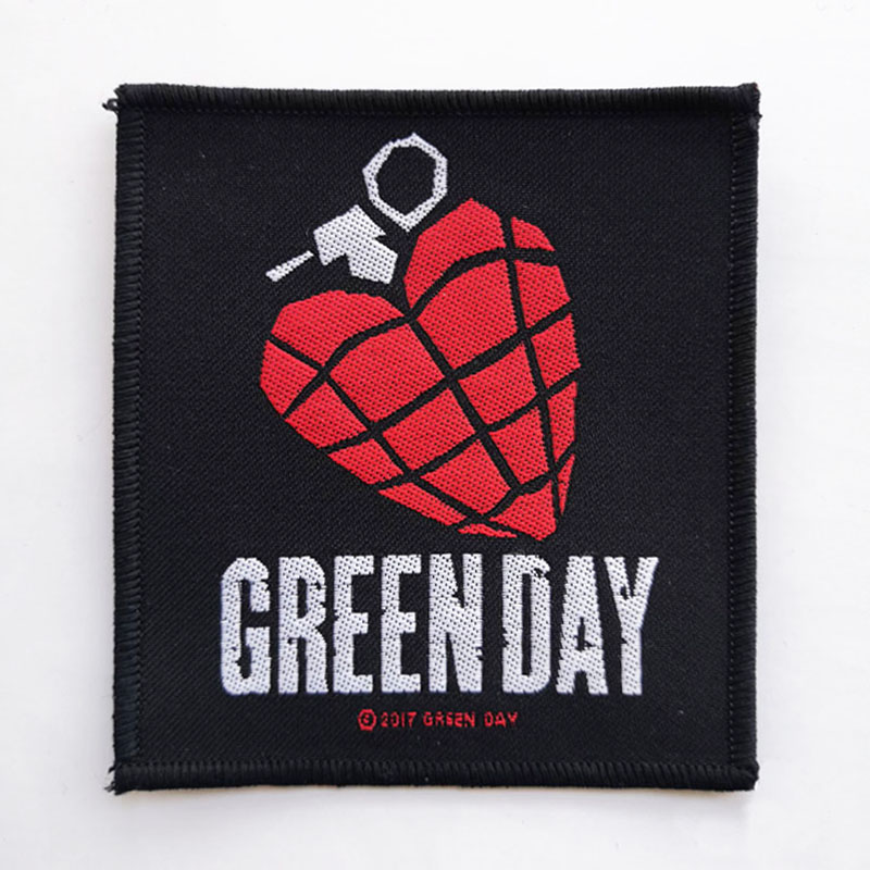 GREEN DAY 官方原版 Heart (Woven Patch)