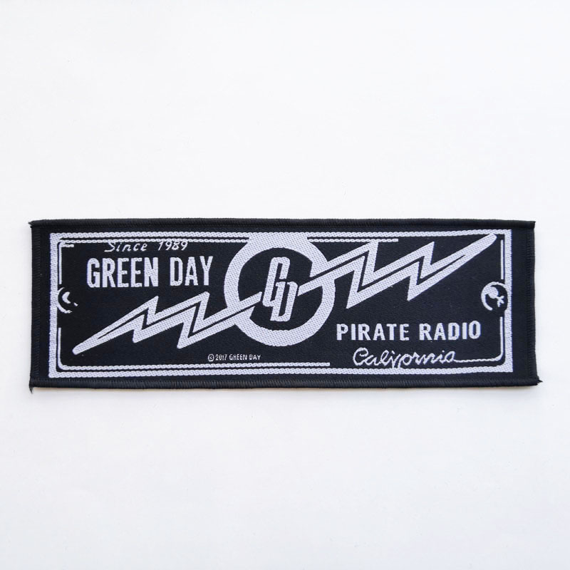 GREEN DAY 官方原版 Pirate Radio 加长 (Woven Patch)