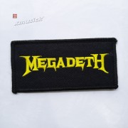 MEGADETH 官方原版 Logo 小 (Embroidered Patch)