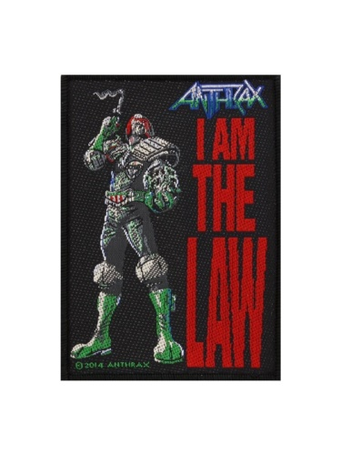 ANTHRAX 官方原版 I Am The Law (Woven Patch)