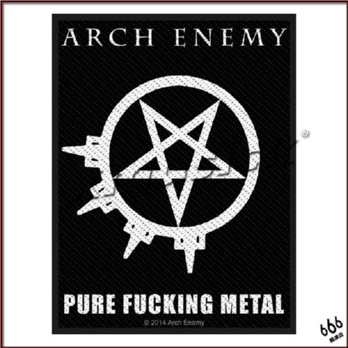 ARCH ENEMY 官方进口原版 Pure Fucking Metal (Woven Patch)