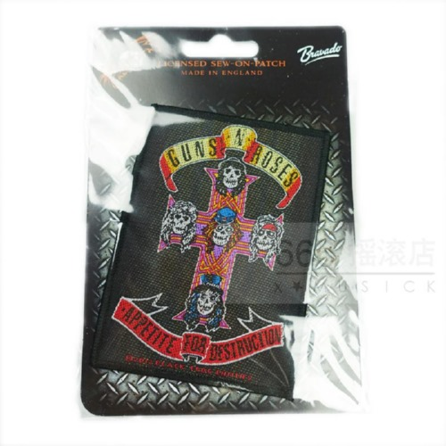 GUNS N ROSES 官方原版 Appetite of Destruction (Woven Patch)