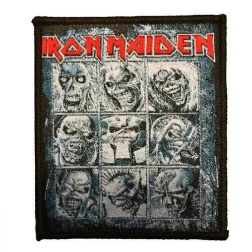 IRON MAIDEN 官方进口原版 Eddie faces (Woven Patch)