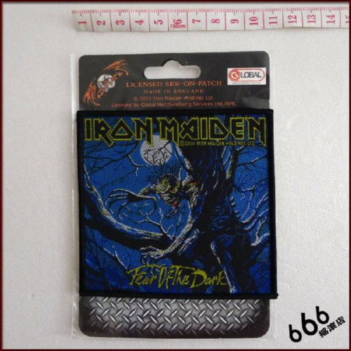 IRON MAIDEN 官方进口原版 Fear of the Dark (Woven Patch)