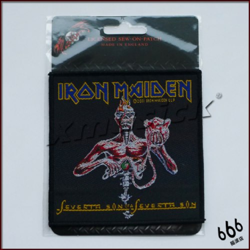 IRON MAIDEN 官方进口原版 Seven Son of Seventh Son (Woven Patch)