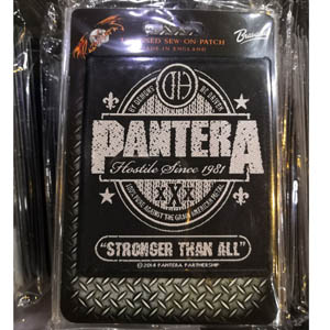 PANTERA 官方原版 Stronger Than You (Woven Patch)