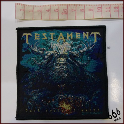 TESTAMENT 官方原版 Dark Roots Of Earth (Woven Patch)
